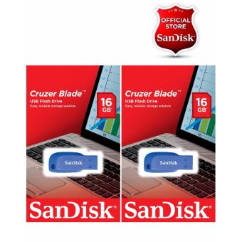 Sandisk 16GB Cruzer Blade USB 2.0 Flash Drive BLUE SET OF 2