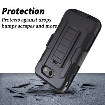 Shockproof Heavy Duty Protection Hybrid Full Body Rugged CaseRubber Dual Layer Holster Cover for Samsung Galaxy Galaxy J5Prime/On 5 (2016 Version) with Kickstand - intl