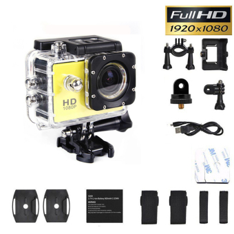 SJ4000 1080P Sports DV HD DV Action Waterproof 30M Camera Camcorder Yellow