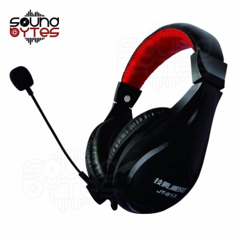 Sound Bytes JT-813 Multimedia Gaming Headset with Mic (Black/Red)