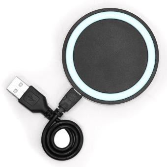 Tech Gear Wireless Charger Round Pad Type Qi Standard for All Typeof Phone (White/Black)