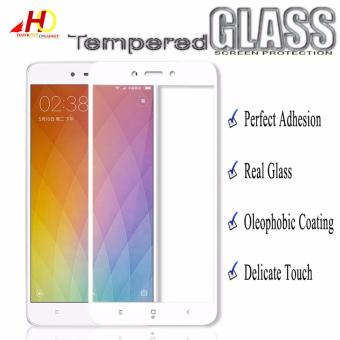 Tempered Glass Full Cover Screen Protector for Xiaomi Redmi 4X(White)