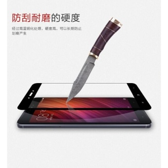 Tempered Glass Full Cover Screen Protector for Xiaomi Redmi Note 4(black)