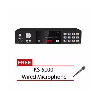 The Platinum Kool Sound K-BOX 2 KS40 Karaoke Player (Black) 12000 songs with FREE KS-5000 Wired Microphone