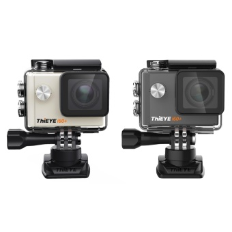 ThiEYE i60+ Ultra 4K Sport Action Camera 60M Waterproof Wifi 12MP FHD 2 Inch Screen 170 Degree Lens 360 Degree Rotating Buckle Helmet DV Camcorder