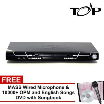 TOP MIDI 231 All-in-One Karaoke DVD Player with FREE Over 10000 OPM and English Songs DVD with Song Book and Mic (Black)