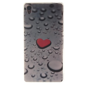 TPU Flexible Soft Case for Sony Xperia Z3 (Water Droplets) - intl