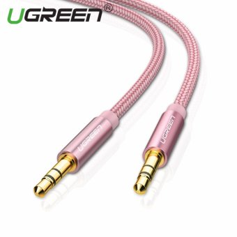 UGREEN 3.5mm to 3.5 mm Jack Aux Cord Gold-Plated Metal ConnectorAudio Cable - 1m,Rose Gold - intl