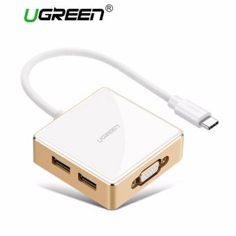 UGREEN USB C to VGA Adapter, Type C to USB A 3 Port Hub for NewMacbook, Macbook Pro 2016, Google ChromeBook Pixel 2015, Dell XPS13, Dell XPS 15, ASUS Zen AiO etc,White - intl