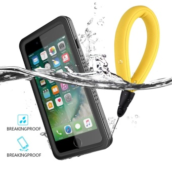 Ultra Slim 360 Degree Case Waterproof Dustproof Cover for iPhone 7 Plus (Black) - intl