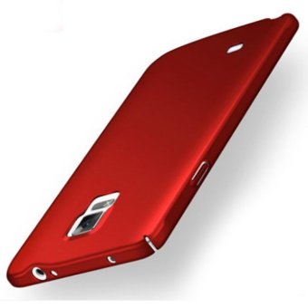 Ultra Slim Fit Shell Hard Plastic Full Protective Anti-Scratch Resistant Cover Case for iPhone Samsung Galaxy Note 4 (Silky Red) - intl