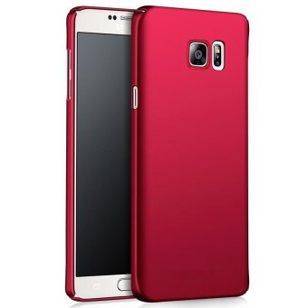 Ultra Slim Fit Shell Hard Plastic Full Protective Anti-Scratch Resistant Cover Case for iPhone Samsung Galaxy Note 5 (Silky Red) - intl