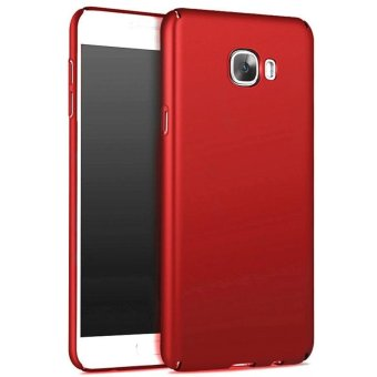 Ultra Slim Fit Shell Hard Plastic Full Protective Anti-ScratchResistant Cover Case for iPhone Samsung Galaxy C9 Pro (Silky Red) -intl