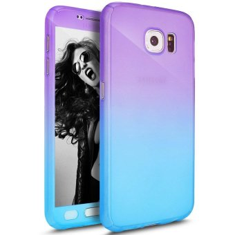 Ultra Thin 360 Degree Full Body Coverage Protection Gradient RampVibrant Colorful PC Hard Slim Case for Samsung Galaxy S7 Edge(Multicolor) - intl