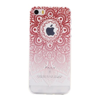 Ultra-Thin Soft Flexible TPU Case for iPhone 5 5s SE (Pattern-7) -intl