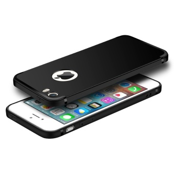Ultra Thin TPU Silicone Soft Matte Case Cover for Apple iPhone SE /5S / 5 (Black) - intl