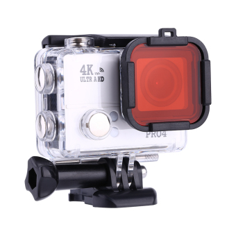 Underwater Sea Diving Snap on Filter Lens for GoPro Hero 3+ 4 Housing Case(Red)