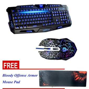 VORTEX Gaming USB Keyboard and Mouse Combo FREE Bloody OffenseArmor Gaming Keyboard Mouse Pad