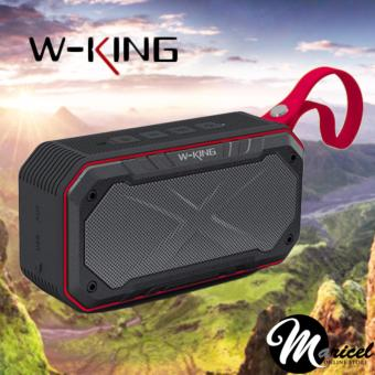 W-King S18 Waterproof/Shockproof Bluetooth Speaker with FM radio/Memory Card and AUX Slot (Black/Red)