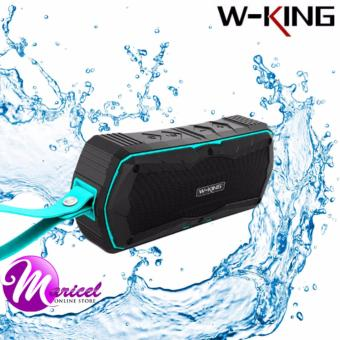 W-King S9 Super Bass Waterproof/Shockproof/Dustproof Portable Outdoor Bluetooth 4.0 Wireless Speaker and Powerbank (Black/Blue)