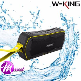 W-King S9 Super Bass Waterproof/Shockproof/Dustproof Portable Outdoor Bluetooth 4.0 Wireless Speaker and Powerbank (Black/Yellow)