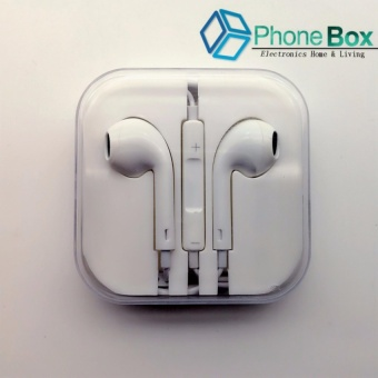 Wired Earpods with Mic and Volume Control (white)