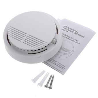 wireless cordless smoke detector home security fire alarm sensor system battery lazada ph. Black Bedroom Furniture Sets. Home Design Ideas
