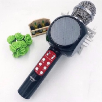 Wster WS-1816 Karaoke KTV MIC Portable Bluetooth Speaker Microphone(Black)