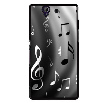 Y&M Black Music Note Phone Case for Sony L36H (Multicolor)