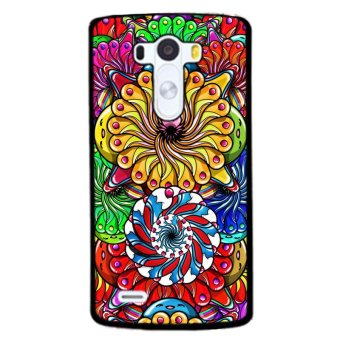 Y&M Colorful Flower Pattern Cell Phone Cases For LG G4(Multicolor)