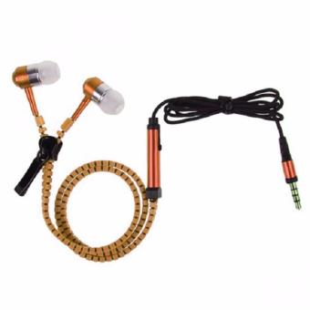 Zipper Stereo Headset with Mic (Orange)
