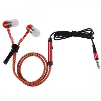 Zipper Stereo Headset with Mic (Red)