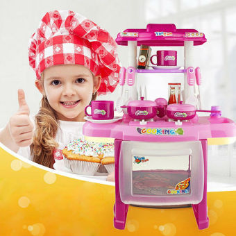 2016 new beauty kitchen cooking toy play set for children for Kitchen set for 9 year old