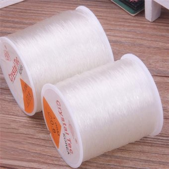 1 PC DIY 0.8mm 100 Meter Clear Stretch Elastic Beading Cord StringThread Spool Roll - intl