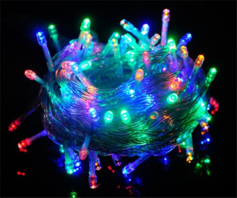 100 LED String Lights 10 Meters Copper Wire LED Lights,Battery Operated Waterproof Starry String Lights, Decorative Rope Lights For Seasonal Christmas Holiday, Wedding, Parties (Multi-Color) -intl