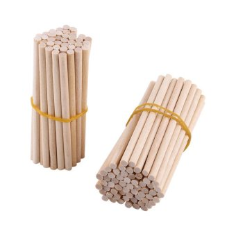100pcs 80mm Wooden Sticks For DIY Wood Crafts Home Decoration -intl