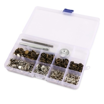 12.5mm Snap Fastener Press Stud Buttons Poppers Leather Craft Fixings Tools Kit