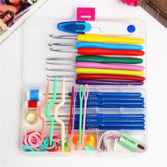 16 sizes Crochet hooks Needles Stitches knitting Craft Case crochet set