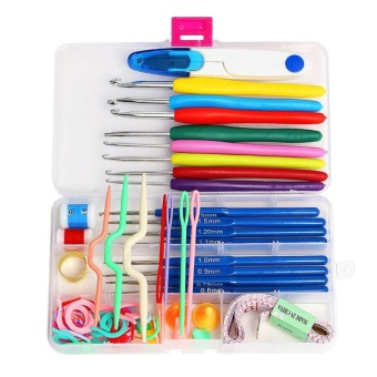16 Sizes Crochet Hooks Needles Stitches Knitting Craft Case Crochet Set - intl