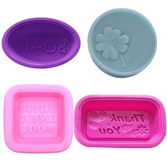 16Pcs Silicone Soap Molds 4 Diffrent Style Handmade Soap Making DIY Moulds Accessory - intl