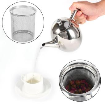 1L Stainless Steel Teapot Coffee Pot Water Kettle With Filter - intl
