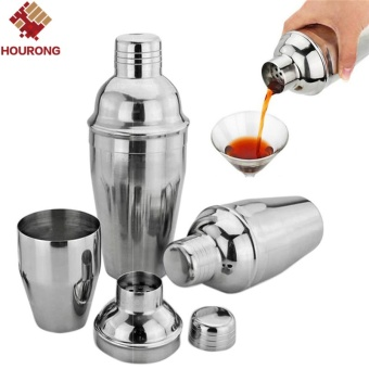 1Pcs 550ml Stainless Steel Cocktail Shaker Cocktail Mixer Wine Martini Drinking Boston Style Shaker For Party Bar Tool - intl