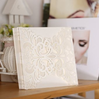 20Pcs Romantic Wedding Party Invitation Card Delicate CarvedPattern