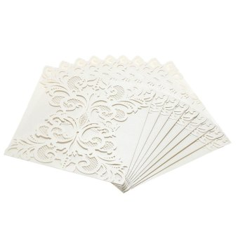 20Pcs Romantic Wedding Party Invitation Card Delicate CarvedPattern - Intl