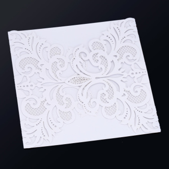 20Pcs Romantic Wedding Party Invitation Card Envelope DelicateCarved Pattern