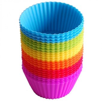 24 pcs Reusable Silicone Baking Cups