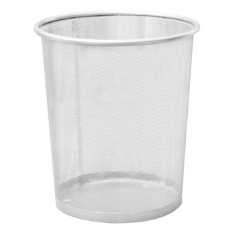 2PCS Office Can Metal Mesh Waste Bin Wastebasket Rubbish Paper Net Trash Basket