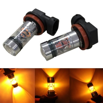 2X H8 H11 100W 20LED HID 2323 Fog Driving DRL Light Bulbs - intl