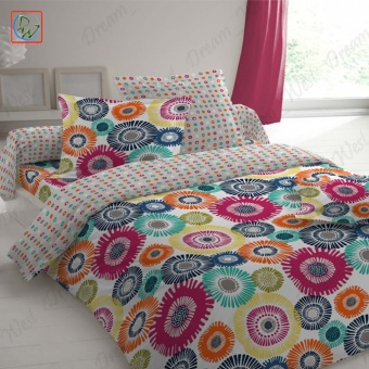 3 Pieces Fitted Sheet Set Full Size Hippie Bedsheet Set by Canadian