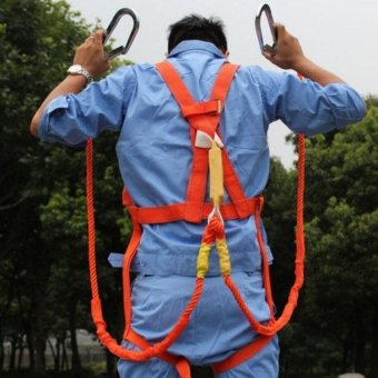 3m Professional Climbing Rock Safety Harness Belts Electrician Body Harness Belts Buffer - intl